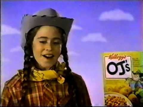 VINTAGE 80'S OJ'S CEREAL COMMERCIAL W MISSY MELISSA FRANCIS FROM LITTLE HOUSE ON THE PRAIRIE