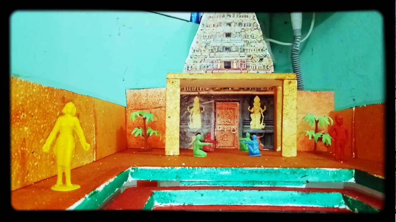 Citaten School Project : School project working model of temple
