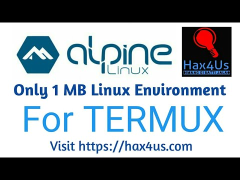 Install Alpine Linux In Termux / Just 1 MB 😱