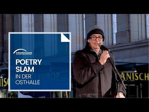 Poetry Slam Oktober 2016 im Hauptbahnhof Leipzig mit Leonie Warnke, Julius Fischer, Volker Strübing