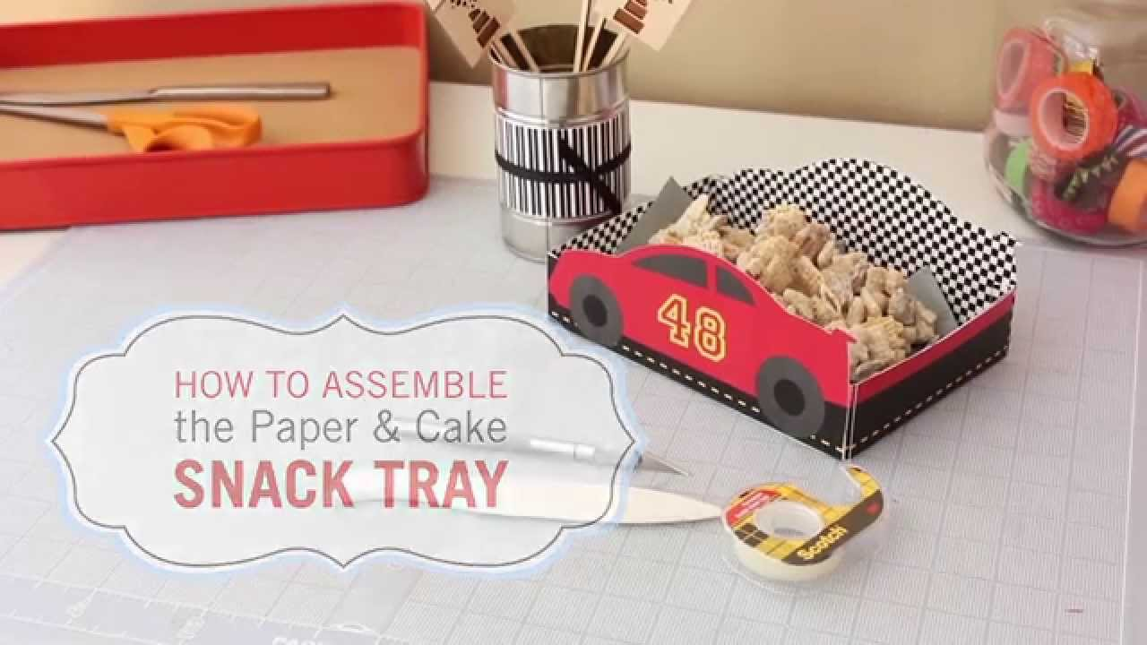 Race car birthday snack tray tutorial by paper cake youtube race car birthday snack tray tutorial by paper cake baditri Choice Image