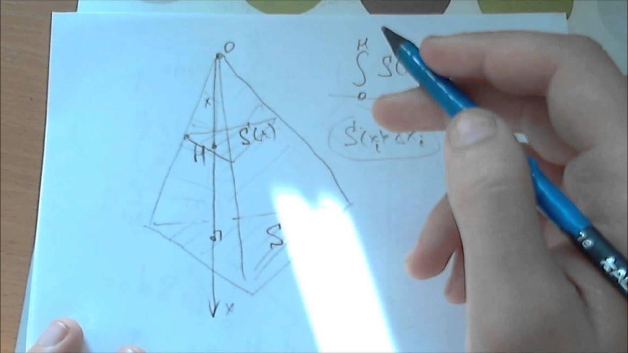 Вывод формулы объёма пирамиды