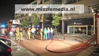 Grote brand in scooterzaak aan de Johannes Calvijnlaan in #Amstelveen #Lindenlaan #brand