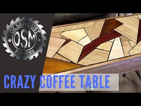 Worlds Best Timber Coffee Table - DIY Woodworking Crazy Random Awesome Design