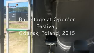 Open'er Festival, Gdansk 2015 - Libertines' backstage area