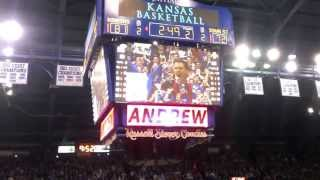 Andrew Wiggins break away dunk and crowd goes crazy.