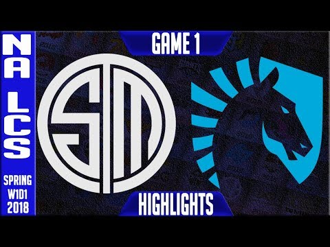 TSM vs TL Grudge Match Highlights  NA LCS Spring 2018 S8 W1D1  Team Solomid vs Team Liquid