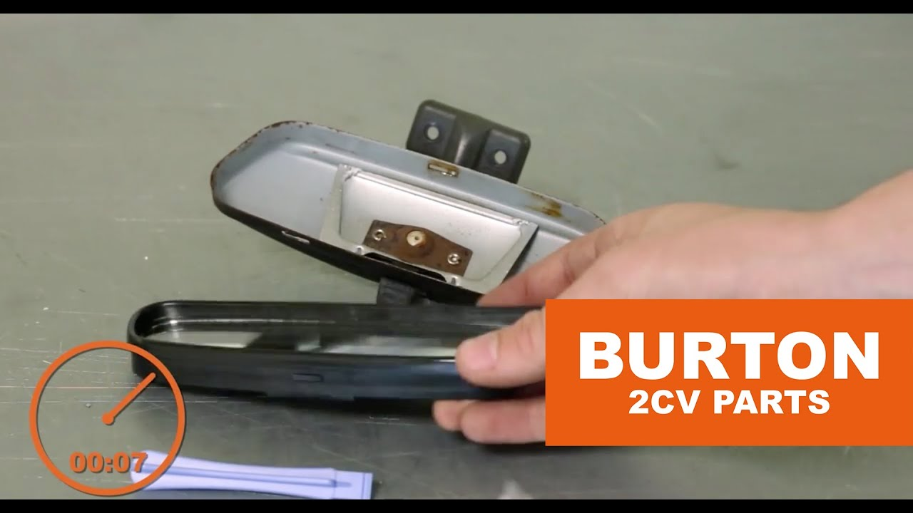 burton 2cv parts rear view mirror revision set youtube. Black Bedroom Furniture Sets. Home Design Ideas
