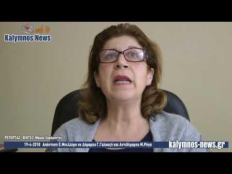 19-4-2018 Απάντηση Ε.Μπιλλήρη σε Δήμαρχο Γ.Γαλουζή και Αντιδήμαρχο Μ.Ρήγα