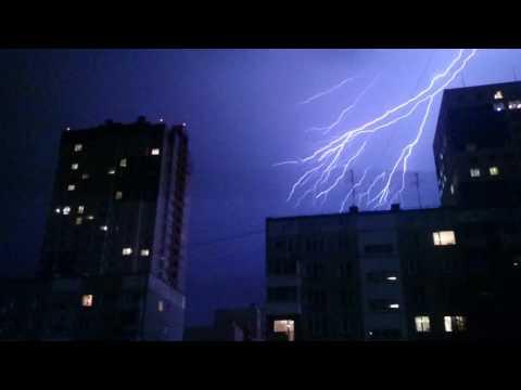 Молния в Новосибирске ,5  июля