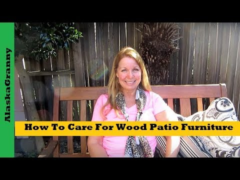 How To Care For Wood Patio Furniture