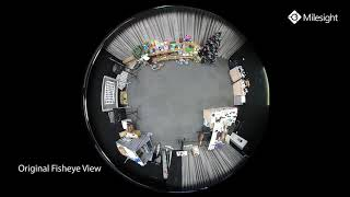 Milesight 5MP 360 ° Panoramik H 265+ Balıkgözü Kamera-Görüntü Kalitesi