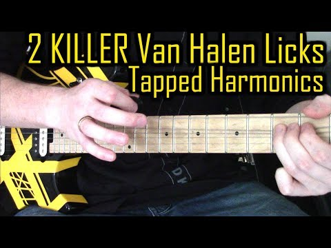 Van Halen Tapped Harmonic Technique | Guitar Licks From Eddie's Live Solo