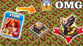 All X-Bow vs 500 max Valk Clash of clans | Max valk vs MAx Xbow Gameplay