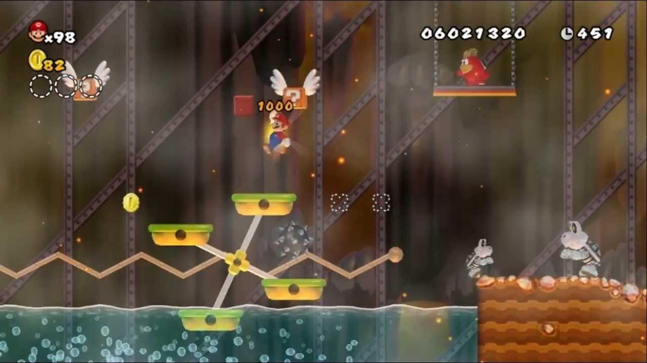 Newer Super Mario Bros Wii World 8 9 Ironworks Forge Youtube