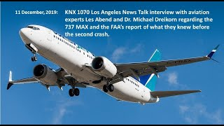 KNX Interview 12 11 2019   737 MAX and what the FAA knew before the second crash