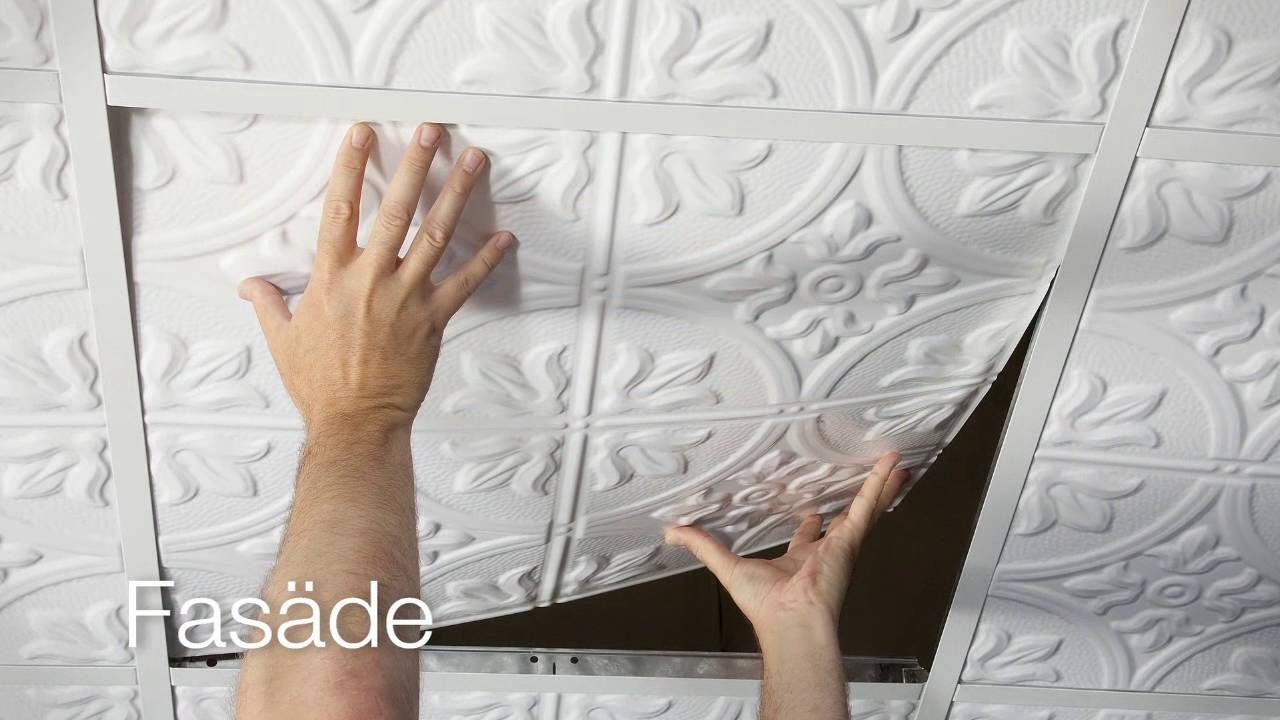 Fasade Decorative Ceiling Tiles Youtube