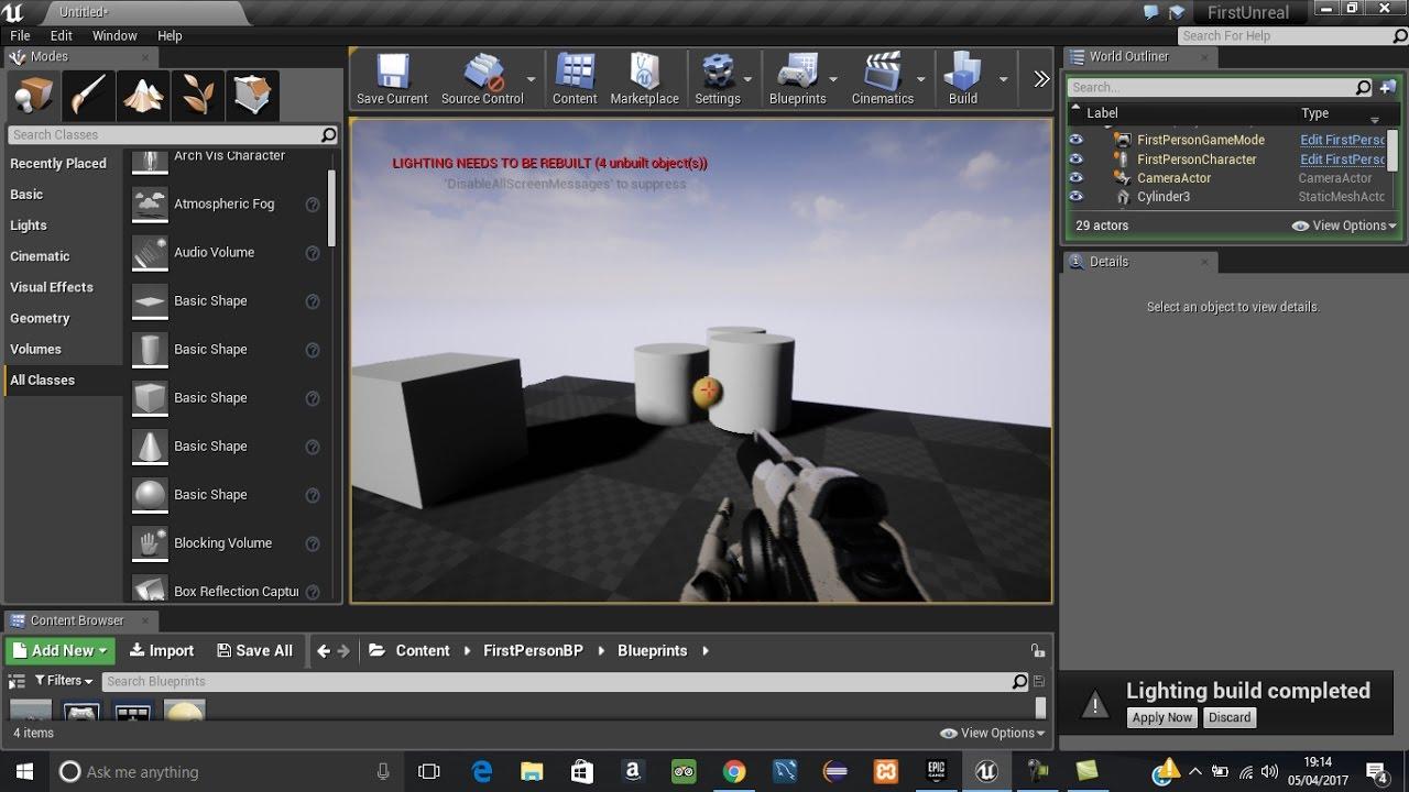 unreal engine  tutorial lighting    rebuilt youtube