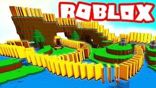 ROBLOX BUILDING A MASSIVE DOMINO COURSE!
