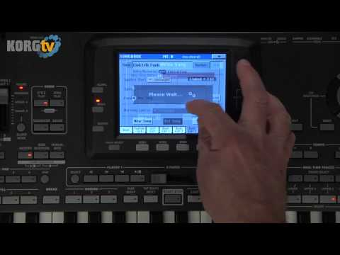 KORG Pa3X Video Anleitung - Teil 6 - SongBook