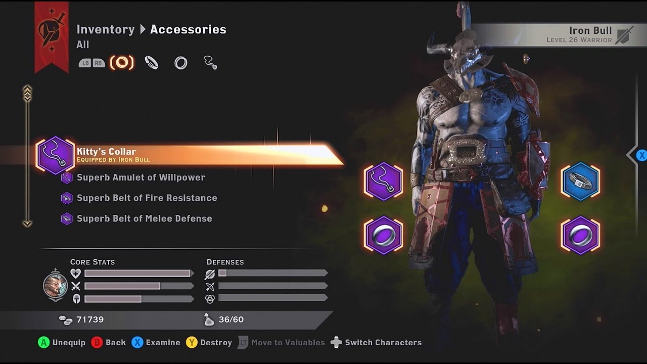 Dragon Age Inquisition Iron Bull Build With Kitty S Collar Youtube