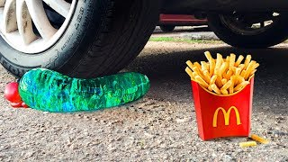 Crushing Crunchy & Soft Things by Car!   Floral Foam, Squishy, Tide Pods and More!