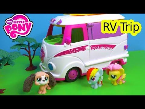 MLP Fash'ems Rainbow Dash Fluttershy Shopkins ROAD TRIP RV Camper My Little Pony Video Series Part 5
