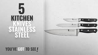 Top 10 Kitchen Knives Stainless Steel [2018]: Solimo Premium High-Carbon Stainless Steel Kitchen