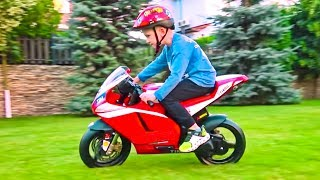 Fun pretend play story with Unboxing and Assembling Sport Bike Ducati for Elias | Cars for Kids