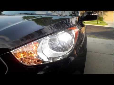 New Hyundai Tucson Limited HID Kit Install and Lighting Demo