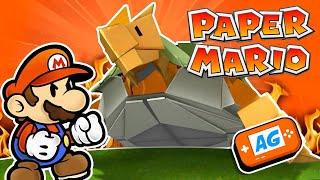 La PAPELEMENTAL de TIERRA en PAPER MARIO The Origami King Español en Abrelo Game Paper Mario #6