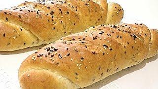 Домашний ХЛЕБ - БАТОН с семенами/Home BREAD - BATON with seeds