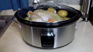 A Whole Chicken + A New Cosori Digital 6.5 Qt Slow Cooker