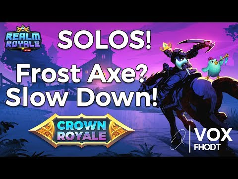 Realm Royale | Solo - New Frost Axe is WILD!
