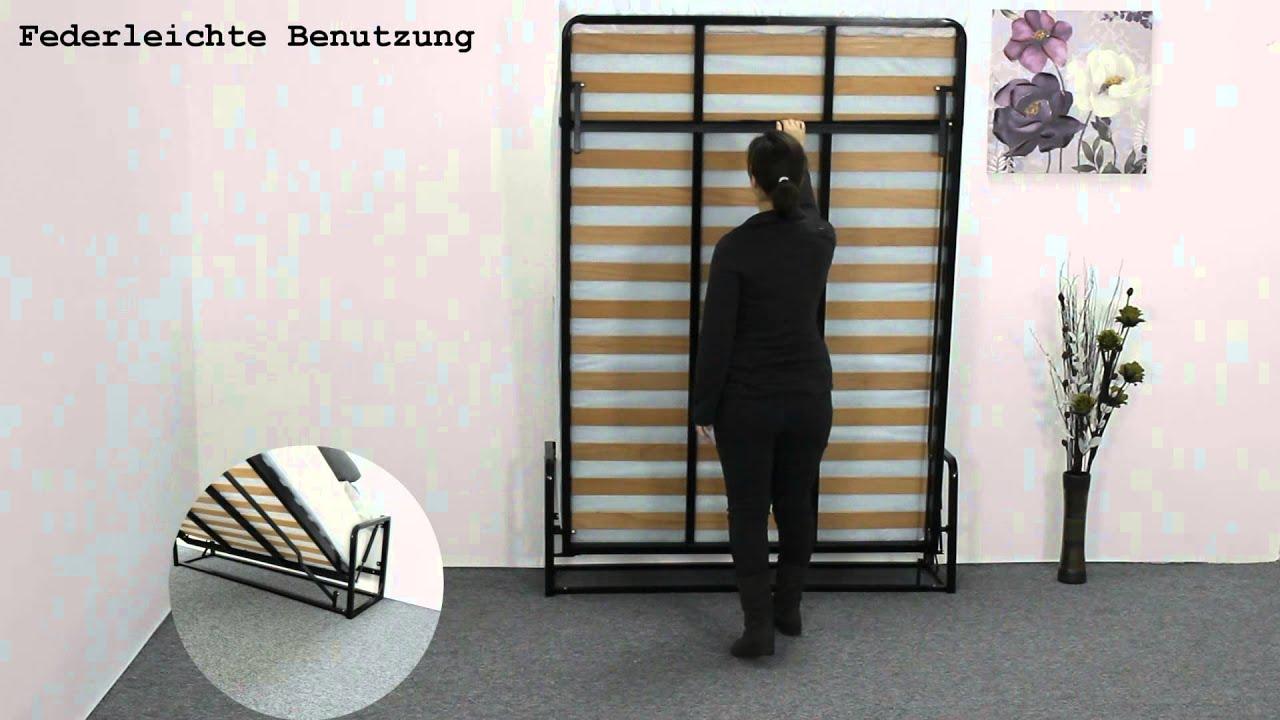 Klassisches wandbett von wallbedking youtube - Mecanisme lit mural escamotable ...
