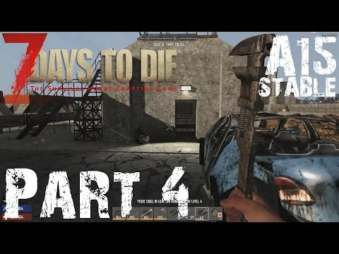 RED MESSA MISSILE SILO | 7 Days To Die Alpha 15 Gameplay / Let's play | Part 4
