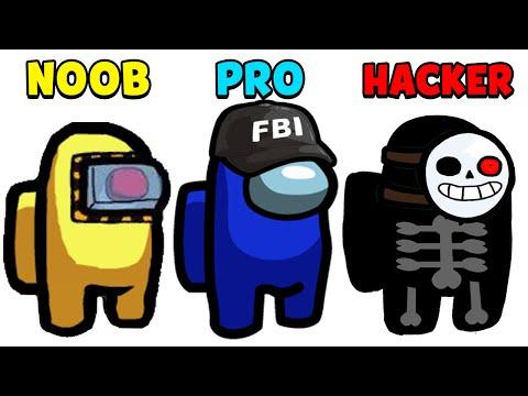 NOOB vs PRO vs HACKER - Among Us