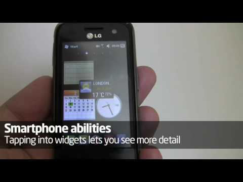 LG GM750: hands-on video