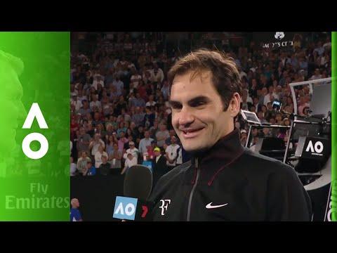 Roger Federer on court interview (QF) | Australian Open 2018