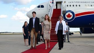 Justin Trudeau arrives in Washington ahead of Trump meeting