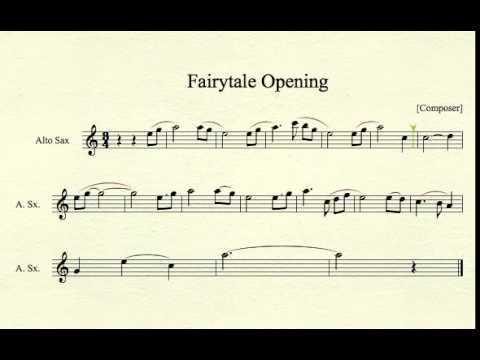 Fairy Tale Theme from Shrek for Alto Sax