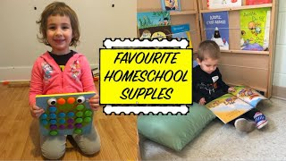 Favourite Homeschool Toys And Supplies For Preschool Ages || Small Homeschool Space