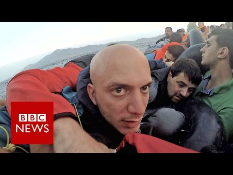 """Exodus: """"Moment my dinghy sank in the Med"""" BBC News"""