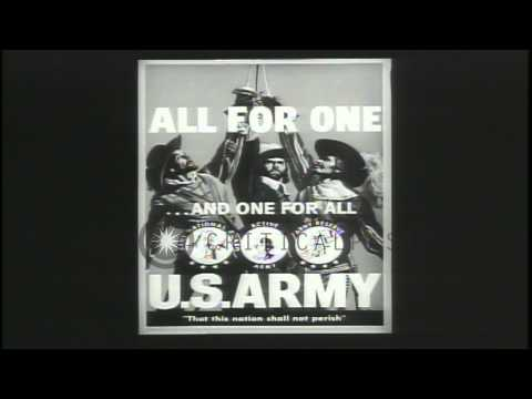 The three US Army components are : the Army Reserves, the Regular Army and the Ar...HD Stock Footage
