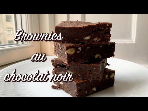 brownies-parfaits-au-chocolat-&-aux-noix,-comme-dessert,-pour-café-ou-thé---recette-#266