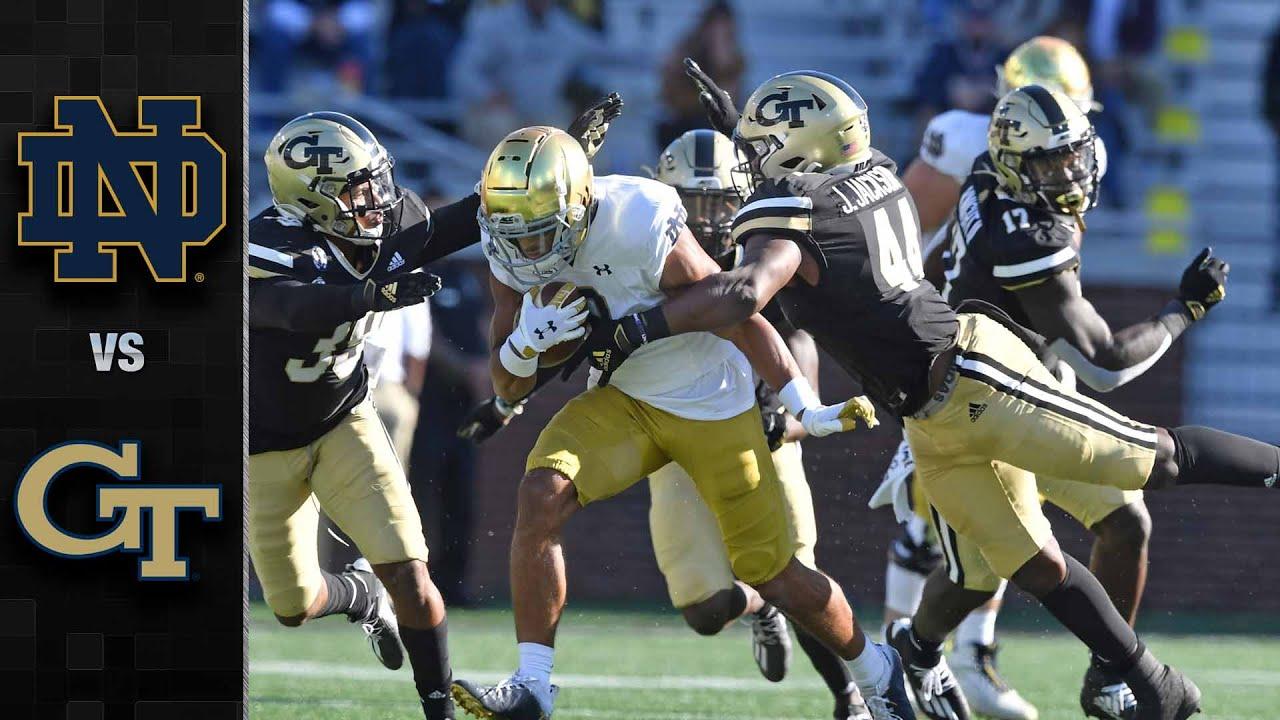 Notre Dame Vs Georgia Tech Football Highlights 2020 Youtube