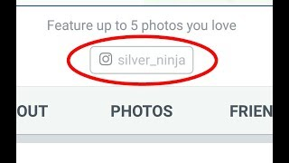 How to get the Instagram profile link button on Facebook profile