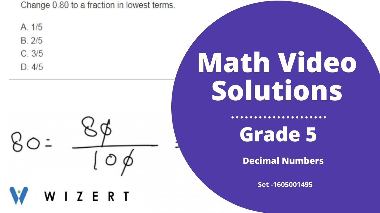 small resolution of Grade 5 Mathematics Worksheets - Decimal Numbers worksheet pdfs for Grade 5  - Set 1605001495 - YouTube