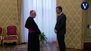 Sánchez llega al Vaticano para ver al Papa por primera vez