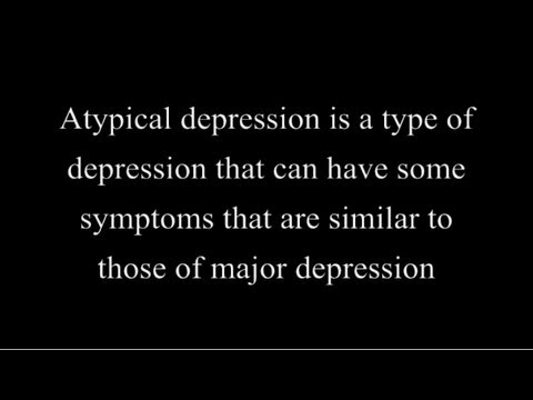 Atypical Depression (Facts for you) - YouTube